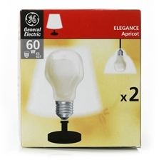 This is a 60W 26-27mm ES/E27 Standard GLS bulb that produces a Apricot light which can be used in domestic and commercial applications
