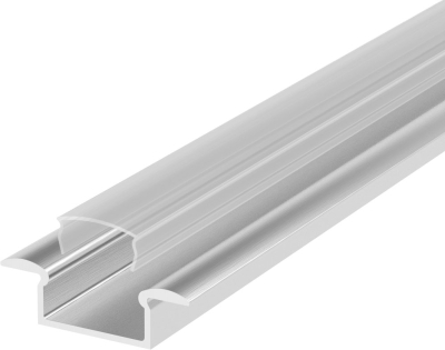 1 Metre Recessed Aluminium LED Profile P6 (7.65mm x 15mm) C/W Clear Cover