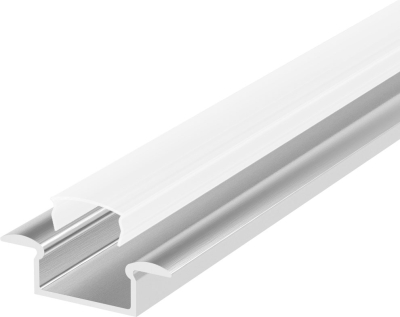 1 Metre Recessed Aluminium LED Profile P6 (7.65mm x 15mm) C/W Opal Cover