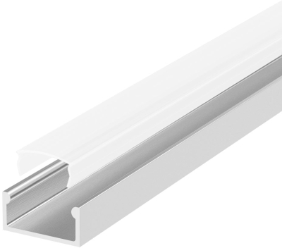 1 Metre Recessed/Surface Aluminium LED Profile P4 (7mm x 13.4mm) C/W Opal Cover
