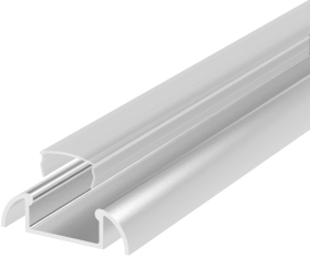 1 Metre Surface Mounted Aluminium LED Profile P2 (24.6mm x 7mm) C/W Clear Cover