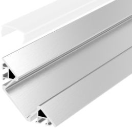 1 Metre Surface Mounted Corner LED Profile P7 (4mm x 17.1mm) C/W Opal Cover
