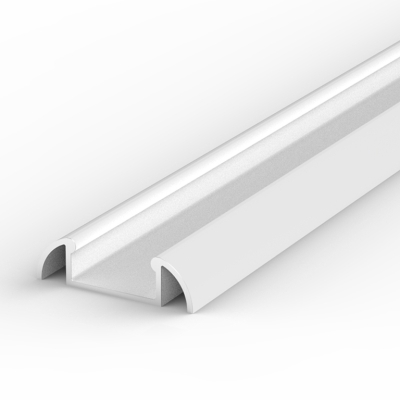 1 Metre Surface Mounted White LED Profile P2 (24.6mm x 7mm)