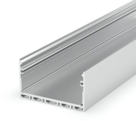1 Metre Surface Silver Anodized LED Profile (48mm x 25mm) P23-3