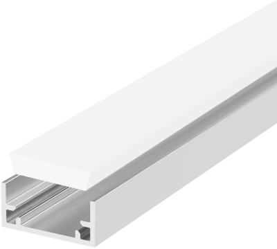 1 Metre Waterproof Recessed LED Profile P11 (19.2mm x 8.5mm) C/W Opal Cover