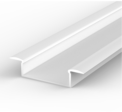 1 Metre Wide Recessed White LED Profile P14 (10.65mm x 30.8mm)