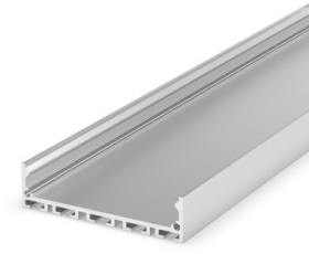 1 Metre Wide Surface Aluminium LED Profile Silver Anodized (48mm x 12.5mm) P20-1
