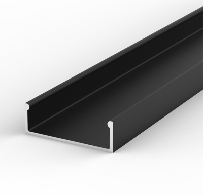 1 Metre Wide Surface Mounted Black LED Profile P13 (30.8mm x 10mm)