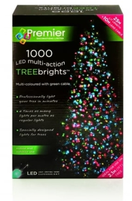 1000 LED Multi Action TREEbrights Multi-Coloured (For 7ft Tree)
