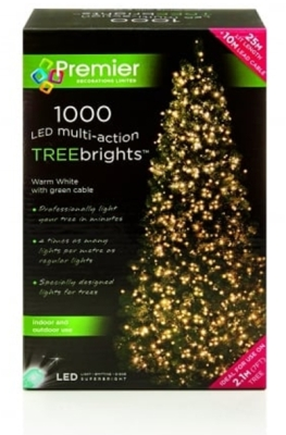 1000 LED Multi Action TREEbrights Warm White (For 7ft Tree)