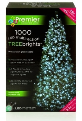 1000 LED Multi Action TREEbrights White (For 7ft Tree)