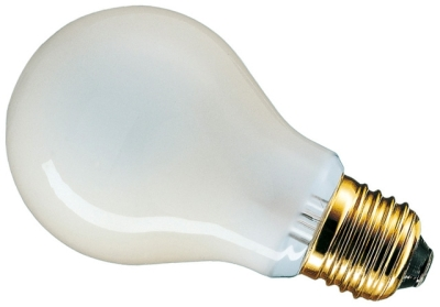 This is a 60W 26-27mm ES/E27 Standard GLS bulb that produces a Pearl light which can be used in domestic and commercial applications