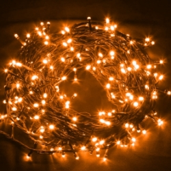 120 LED's Multi Action 12M String Light Orange