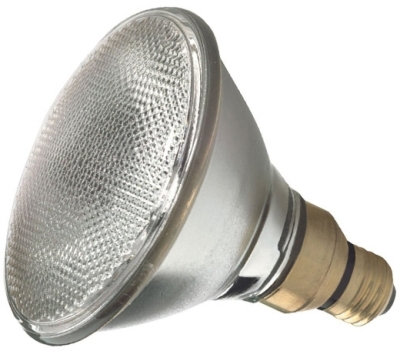 This is a 90W 26-27mm ES/E27 Reflector/Spotlight bulb that produces a Warm White (830) light which can be used in domestic and commercial applications