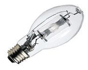 This is a 400 W 39-40mm GES/E40 Eliptical bulb that produces a Cool White (840) light which can be used in domestic and commercial applications