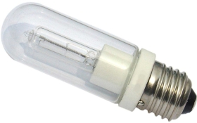 This is a 150W 26-27mm ES/E27 Tubular bulb that produces a Warm White (830) light which can be used in domestic and commercial applications