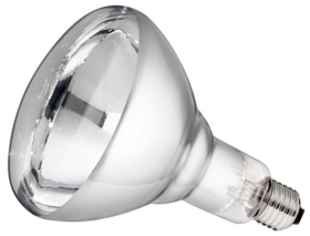 This is a 175W 26-27mm ES/E27 Reflector/Spotlight bulb that produces a Infra Red light which can be used in domestic and commercial applications