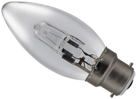 18 Watt (25 Watt Alternative) Energy Saving Halogen Candle BC