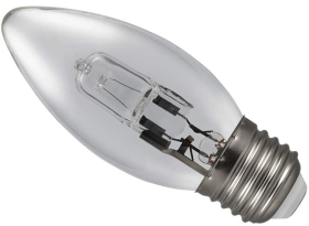 18 Watt (25 Watt Alternative) Energy Saving Halogen Candle ES