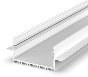 2 Metre Architectural White LED Profile (64mm x 25mm) P23-2 for Plasterboard