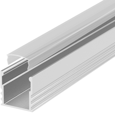2 Metre Deep Recessed Aluminium LED Profile P5 (15mm x 15mm) C/W Clear Cover