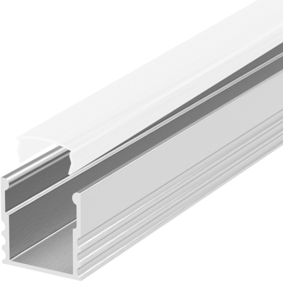 2 Metre Deep Recessed Aluminium LED Profile P5 (15mm x 15mm) C/W Opal Cover