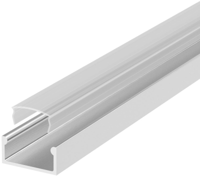 2 Metre Recessed/Surface Aluminium LED Profile P4 (7mm x 13.4mm) C/W Clear Cover