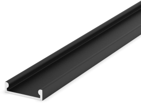 2 Metre Recessed/Surface Black Low Profile LED Profile P4-3 (15mm x 4mm)