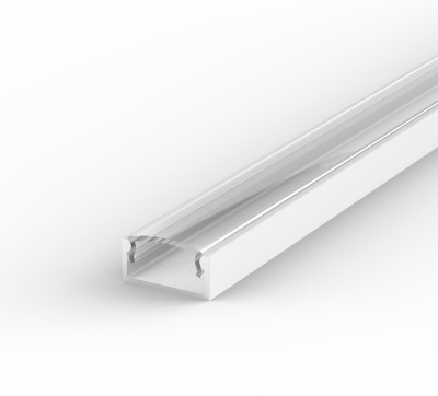 2 Metre Recessed/Surface White LED Profile P4 (15mm x 7mm) C/W Clear Cover