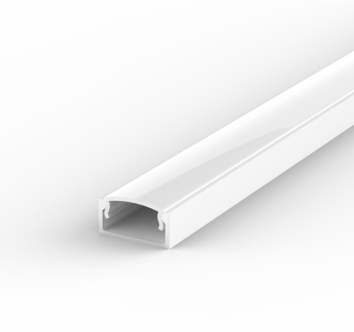 2 Metre Recessed/Surface White LED Profile P4 (15mm x 7mm) C/W Opal Cover