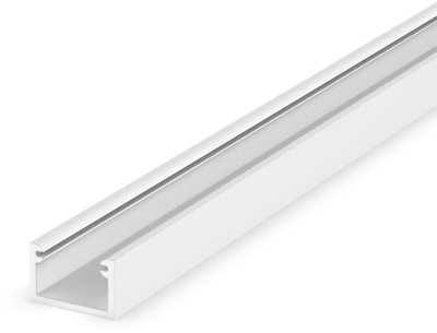 2 Metre Recessed/Surface White Thin LED Profile P4-2 (11mm x 7mm)