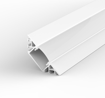 2 Metre Surface Mounted Corner White LED Profile P7 (31.87mm x 4mm) C/W Opal Cover