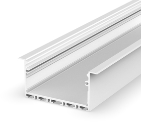 2 Metre Wide Recessed White LED Profile (58mm x 25mm) P23-1