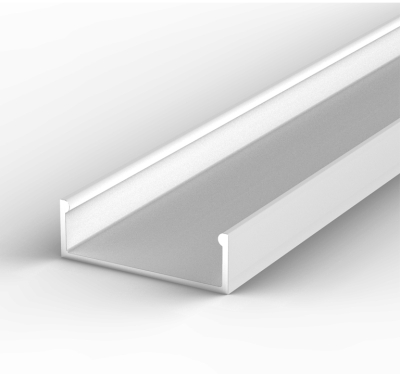 2 Metre Wide Surface Mounted White LED Profile P13 (30.8mm x 10mm)