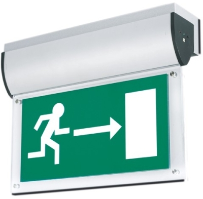 2 x Aurora Left/Right Emergency Exit Legends for AU-EMLED21/22/24 PVC