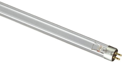 This is a 6W G5 T5 Linear (15mm Dia) bulb that produces a Germicidal Clear light which can be used in domestic and commercial applications