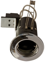 240v Mains GU10 Fire Rated Downlighter Chrome