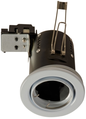 240v Mains GU10 Fire Rated Tilt Downlighter White