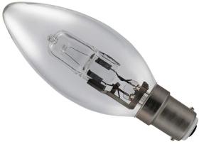 28 Watt (40 Watt Alternative) Energy Saving Halogen Candle SBC