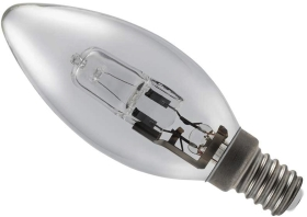 28 Watt (40 Watt Alternative) Energy Saving Halogen Candle SES