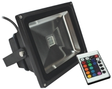 This is a 30 W Flood Light bulb that produces a RGB light which can be used in domestic and commercial applications