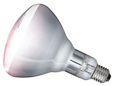 This is a 375W 26-27mm ES/E27 Reflector/Spotlight bulb that produces a Clear light which can be used in domestic and commercial applications
