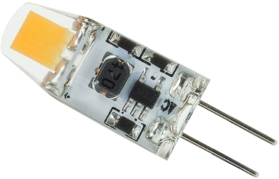 This is a 1.2 W G4 (4mm Apart) bulb that produces a Daylight (860/865) light which can be used in domestic and commercial applications