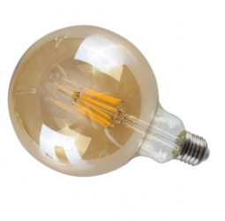 MiniSun E27 4W LED Filament Pear Shaped Bulb AMBER 2700K