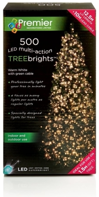 500 LED Multi Action TREEbrights Warm White (For 5ft Tree)