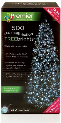 500 LED Multi Action TREEbrights White (For 5ft Tree)