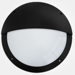 Eterna IP65 365mm Cool White 18W Black Aluminium Standard LED Wall Light with Eyelid Diffuser