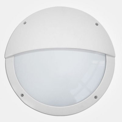 Eterna IP65 365mm Cool White 18W White Aluminium Emergency LED Wall Light with Eyelid Diffuser + Mul