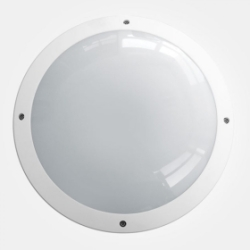 Eterna IP65 365mm Cool White 18W White Aluminium Emergency LED Wall Light with Full Diffuser + Multi