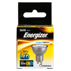 5.7 Watt Dimmable Energizer High Tech LED Cool White 360lm 36° GU10
